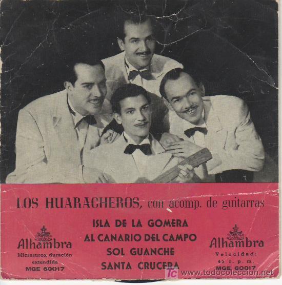 LOS HUARACHEROS.CON ACOMP. DE GUITARRAS. MICROSURCO DURACION EXTENDIDA. (Música - Discos - Singles Vinilo - Country y Folk)