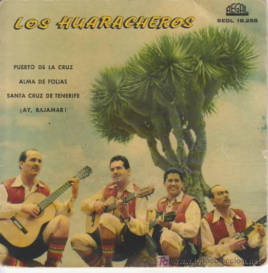 LOS HUARACHEROS.PUERTO DE LA CRUZ.PRIMER FESTIVAL DE LA CANCION CANARIA.TROFEO ONDAS 1960 (Música - Discos - Singles Vinilo - Country y Folk)