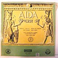 Discos de vinilo: AIDA VERDI, DECCA, VOL 3. Lote 21216157