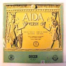 Discos de vinilo: AIDA VERDI, DECCA, VOL 1. Lote 21216167