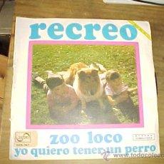 Discos de vinilo: RECREO. ZOO LOCO. YO QUIERO TENER UN PERRO. SERIE TOP-HIT. ZAFIRO 1972. DISCO PROMOCIONAL. Lote 21105963
