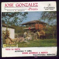 Discos de vinilo: JOSE GONZALEZ PRESI, GUITARRA: E. ACOSTA. ASTURIAS, COLUMBIA. Lote 25942733