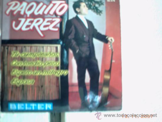 PAQUITO JEREZ- EP TU CUMPLEAÑOS +3 (Música - Discos de Vinilo - EPs - Flamenco, Canción española y Cuplé)