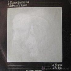 Discos de vinilo: OLGA MANZANO Y MANUEL PICÓN - LA TIERRA / EL HIJO (PABLO NERUDA) - 1979. Lote 22439031