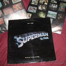 Discos de vinilo: SUPERMAN EL FILM LP DOBLE BANDA SONORA ORIGINAL MUSICA JOHN WILLIAMS PORTADA DOBLE SPA. Lote 25464412