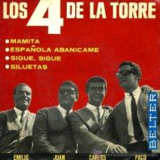 Discos de vinilo: LOS 4 DE LA TORRE - MAMITA, ESPAÑOLA ABANÍCAME... - EP - 1965. Lote 27115609