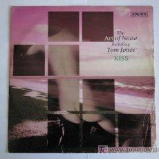 Discos de vinilo: ART OF NOISE FEATURING TOM JONES - KISS (AON MIX) - MAXI 1988. Lote 27011730