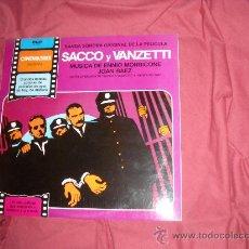 Discos de vinilo: SACCO Y VANZETTI LP BANDA SONORA ORIGINAL MUSICA ENNIO MORRICONE RCA SPA CINEMATRES JOAN BAEZ. Lote 28416914
