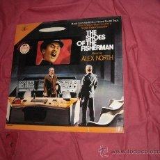 Discos de vinilo: LAS SANDALIAS DEL PESCADOR-THE SHOES OF THE FISHERMAN-LP BANDA SONORA ORIGINAL MUSICA ALEX NORTH USA. Lote 24879911