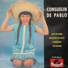 Discos de vinilo: CONSUELÍN DE PABLO - AVEC DES FLEURS. Lote 26567689