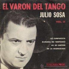 Discos de vinilo: JULIO SOSA - EL VARÓN DEL TANGO . Lote 26538276