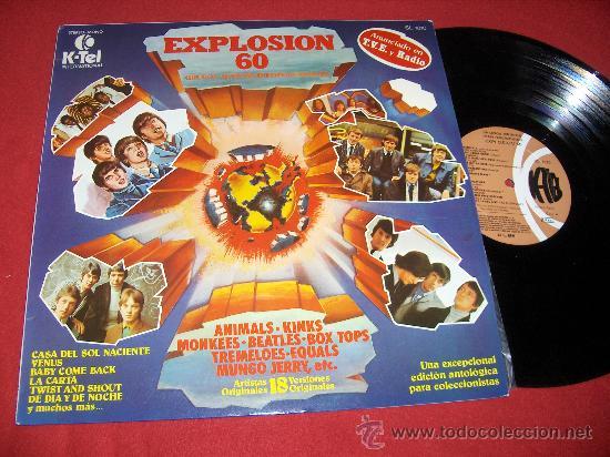 EXPLOSION 60 LP 1978 VARIOS RECOPILATORIO NACIONAL BEATLES KINKS MONKEES ANIMALS EQUALS SMALL FACES (Música - Discos - Singles Vinilo - Pop - Rock Extranjero de los 50 y 60)