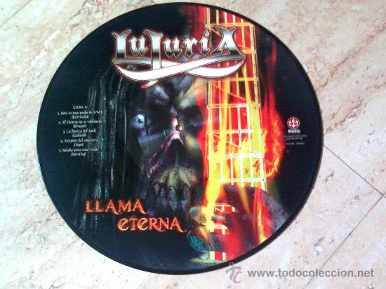 PICTURE- LUJURIA- LLAMA ETERNA- 2010- MINT (Música - Discos - LP Vinilo - Heavy - Metal)