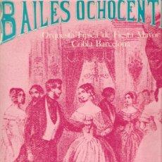Discos de vinilo: LP COBLA BARCELONA - BAILES OCHOCENTISTAS . Lote 27037428