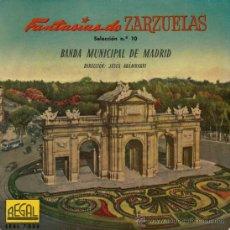 Discos de vinilo: BANDA MUNICIPAL DE MADRID - FANTASÍAS DE ZARZUELA Nº 10 (LA REVOLTOSA) - 1958. Lote 26625452