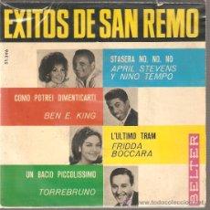 Discos de vinilo: EP SAN REMO - BEN E. KING & FRIDDA BOCCARA & TORREBRUNO & APRIL STEVENS & NINO TEMPO . Lote 27294157