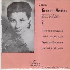 Discos de vinilo: GRACIA MONTES -- CARIA LA SANLUQUERA + 3 --- EP 1968. Lote 26811219