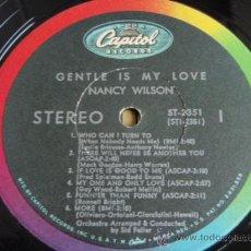 Discos de vinilo: NANCY WILSON ( GENTLE IS MY LOVE ) USA LP33 CAPITOL RECORDS. Lote 275339518