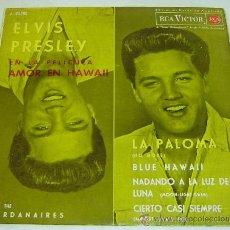 Discos de vinilo: DISCO SINGLE VINILO-ELVIS PRESLEY&THE JORDANAIRES-AMOR EN HAWAII-RCS VICTOR - 1962. Lote 26802863