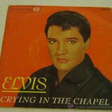 Discos de vinilo: DISCO SINGLE VINILO-ELVIS PRESLEY-CRYING IN THE CHAPEL-RCS VICTOR 1965. Lote 27097687