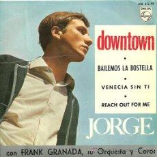 Discos de vinilo: JORGE EP SELLO PHILIPS AÑO 1965. Lote 21412292