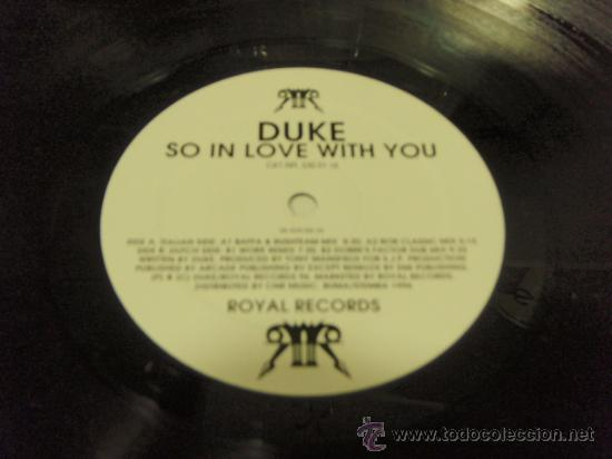 DUKE (SO IN LOVE WITH YOU BAFFA & RUSHTEAM MIX - BOR CLASSIC MIX - WORK REMIX & DOBRE'S FACTOR DUB M (Música - Discos - LP Vinilo - Techno, Trance y House)