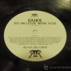 Discos de vinilo: DUKE (SO IN LOVE WITH YOU BAFFA & RUSHTEAM MIX - BOR CLASSIC MIX - WORK REMIX & DOBRE'S FACTOR DUB M. Lote 21443340