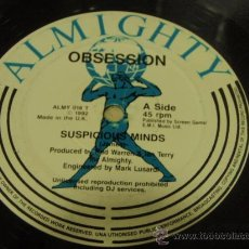 Discos de vinilo: OBSESSION ( SUSPICIOUS MINDS - I WANT YOU TOO MUCH ) ENGLAND - 1992 MAXI45 ALMIGHTY. Lote 21443521