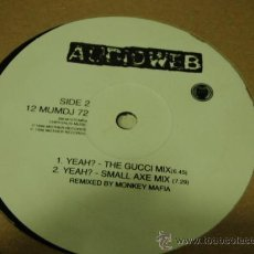 Discos de vinilo: AUDIOWEB ( YEAH? 4 VERSIONES ) REMIXED BY MONKEY MAFIA ENGLAND-1996 MOTHER RECORDS. Lote 21444293