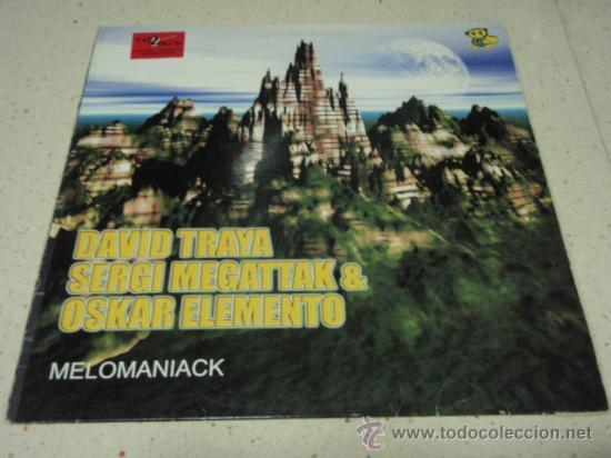 DAVID TRAYA, SERGI MEGATTAK & OSKAR ELEMENTO 'MELOMANIAK' (ABBIS - ABBIS BASE - SECOND OUT) 2001 (Música - Discos - LP Vinilo - Techno, Trance y House)