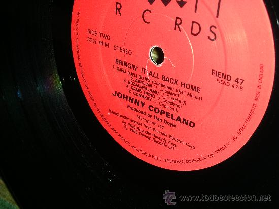 Discos de vinilo: JOHNNY COPELAND - BRINGIN´IT ALL BACK HOME LP . ORIGINAL INGLES - DEMON RECORDS 1986 - Foto 10 - 27358495