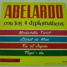 Discos de vinilo: DISCO SINGLE VINILO-ABELARDO CON LOS 4 DIPLOMATICOS-MODISTILLA TWIST-LLORET DE MAR-SANDIEGO 1964. Lote 27063652