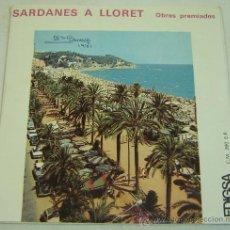 Discos de vinilo: DISCO SINGLE VINILO-SARDANES A LLORET-OBRES PREMIADES- EDIGSA 1970. Lote 27485041