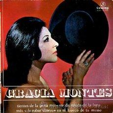 Discos de vinilo: GRACIA MONTES. TIENTOS DE LA PENA MIA, ME DA MIEDO DE LA LUNA.... Lote 27416670