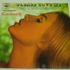 Discos de vinilo: DISCO LP VINILO PLEASE LOVE ME-CARAVELLI-CBS AÑO 1966. Lote 22767382