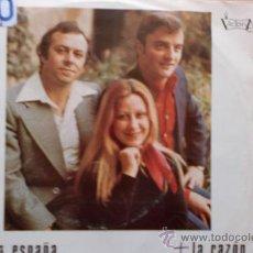Discos de vinilo: ORQUESTA LOS MEDITANOS-MARIA ESPAÑA-LA RAZON-SG-1975-. Lote 21561904