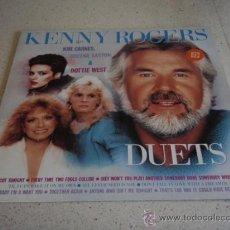 Discos de vinilo: KENNY ROGERS WITH KIM CARNES, SHEENA EASTON & DOTTIE WEST ' DUETS ' 1984 LP33 LIBERTY. Lote 21557585