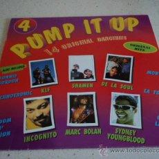 Discos de vinilo: 'PUMP IT UP' 14 ORIGINAL DANCEHITS (DE LA SOUL - TECHNOTRONIC - LA TOUR - INCOGNITO...) 1991. Lote 21558449