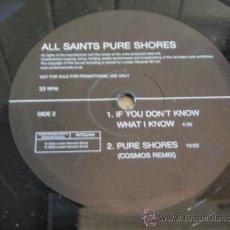 Discos de vinilo: ALL SAINTS PURE SHORES ( PURE SHORES 3 VERSIONES - IF YOU DON'T KNOW WHAT I KNOW ) MAXI33. Lote 21558617