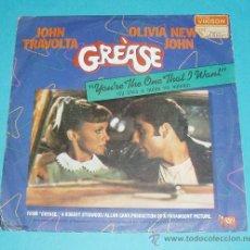 Discos de vinilo: JOHN TRAVOLTA Y OLIVIA NEWTON JOHN. GREASE. YOU'RE THE ONE THAT I WANT. 1978. Lote 21574139