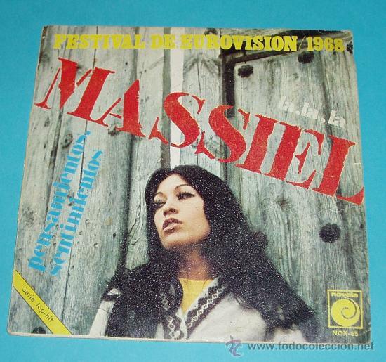 MASSIEL. FESTIVAL EUROVISION 1968. LA, LA, LA. PENSAMIENTOS, SENTIMIENTOS. NOVOLA (Música - Discos - Singles Vinilo - Festival de Eurovisión)