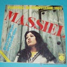 Discos de vinilo: MASSIEL. FESTIVAL EUROVISION 1968. LA, LA, LA. PENSAMIENTOS, SENTIMIENTOS. NOVOLA. Lote 21574177
