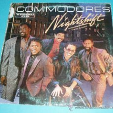 Discos de vinilo: CARÁTULA SUPERSINGLE. COMMODORES. NIGHTSHIFT. SIN DISCO. Lote 21586800