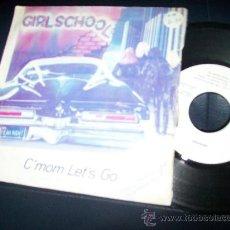 Discos de vinilo: EP GIRLSCHOOL - C'MON LET'S GO - HIT AND RUN. Lote 24351404