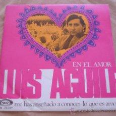 Discos de vinilo: LUIS AGUILE - EN EL AMOR. - 1969.. Lote 21662637