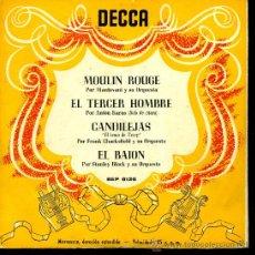 Discos de vinilo: MANTOVANI / ANTON KARAS / FRANK CHACKSFIELD / STANLEY BLACK - MOULIN ROUGE, ETC - EP 195? O 6?. Lote 21662666
