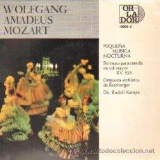 Discos de vinilo: WOLFGANG AMADEUS MOZART PEQUEÑA MUSICA NOCTURNA SERENATA PARA CUERDA EN SOL MAYOR KV 525. Lote 21674445