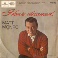 Discos de vinilo: EP MATT MONRO - WHO CAN I TURN TO - LOVE IS A MANY SLENDORED . Lote 21674446