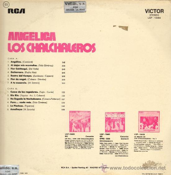 Discos de vinilo: MUSICA GOYO - LP - CHALCHALEROS - ANGELICA - *EE99 - Foto 2 - 23372805