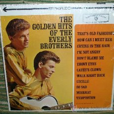 Discos de vinilo: THE EVERLY BROTHERS - GOLDEN HITS OF LP- EDICION U.S.A.WARNER BROS W7. 1967 - STEREO. Lote 26325871
